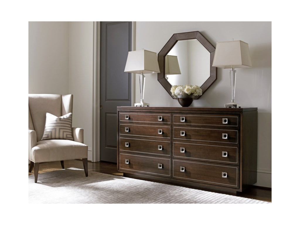 Lexington MacArthur ParkMontage Dresser and Riva Mirror Set