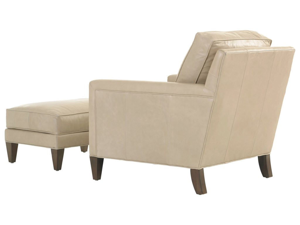 Lexington MacArthur ParkFoxboro Leather Chair and Ottoman Set