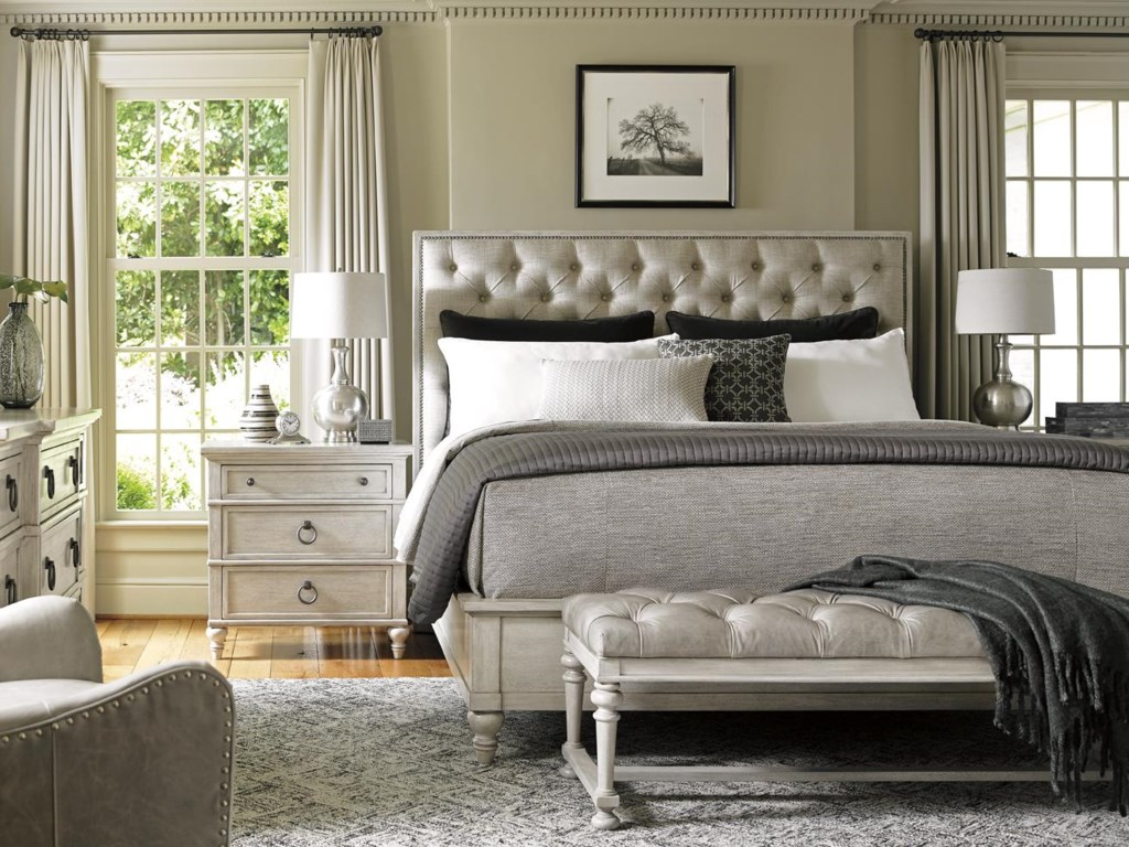Lexington Oyster BaySAG HARBOR TUFTED UPHOLSTERED BED, QUEEN
