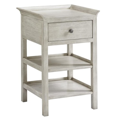 Lexington Oyster Bay Pellham Two Shelf Night Table with Gallery Rail