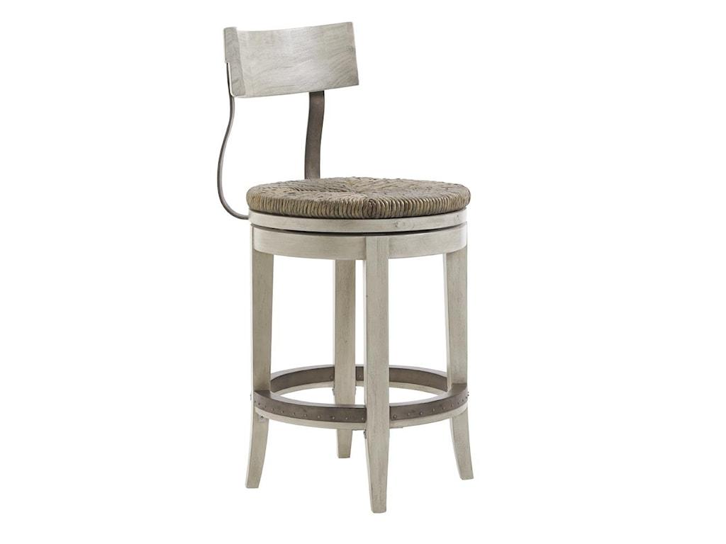 Lexington oyster baymerrick swivel counter stool