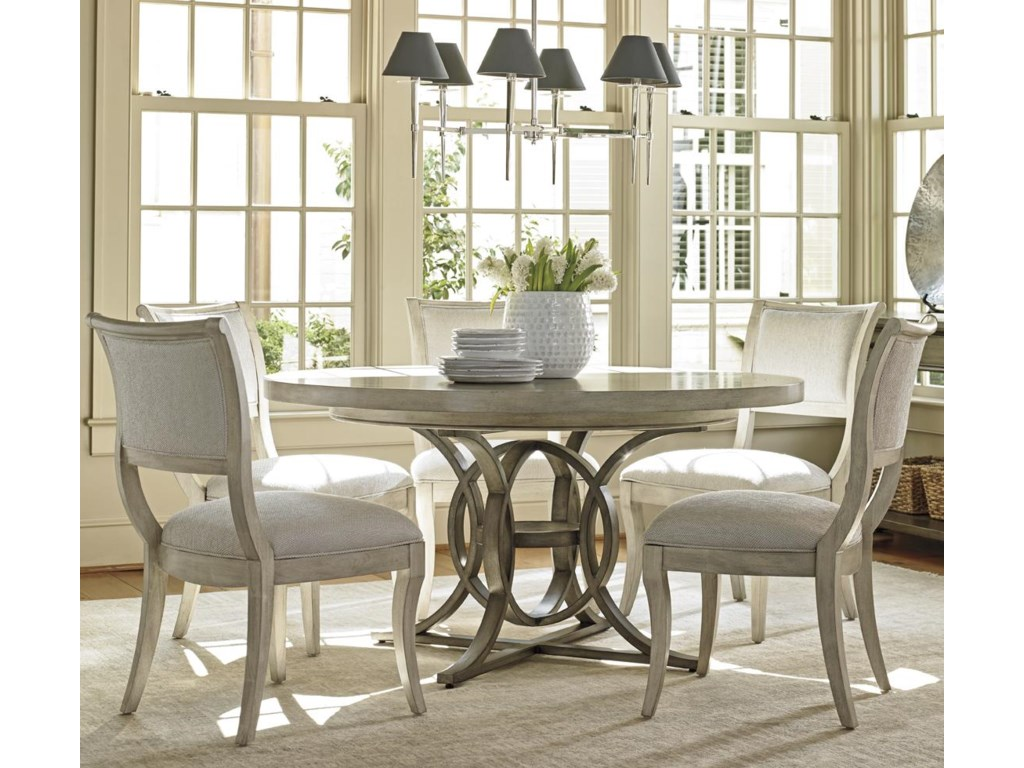 Lexington Oyster Bay Six Piece Dining Set With Calerton Table And