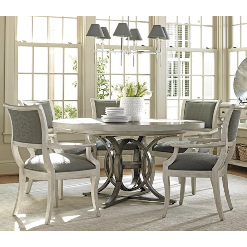 Lexington Oyster Bay Six Piece Dining Set with Calerton Table and Eastport Chairs