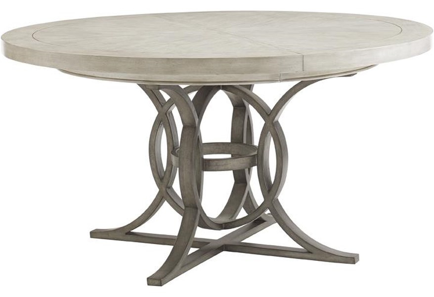 Oyster Bay Calerton Round Dining Table with Extension Leaf by Lexington at  Baer\'s Furniture