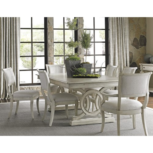 Lexington Oyster Bay Seven Piece Dining Set with Montauk Table and Eastport Chairs