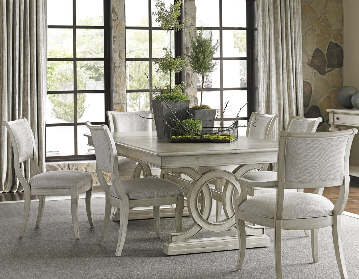 Beau Lexington Oyster Bay Seven Piece Dining Set With Montauk Table And Eastport  Chairs