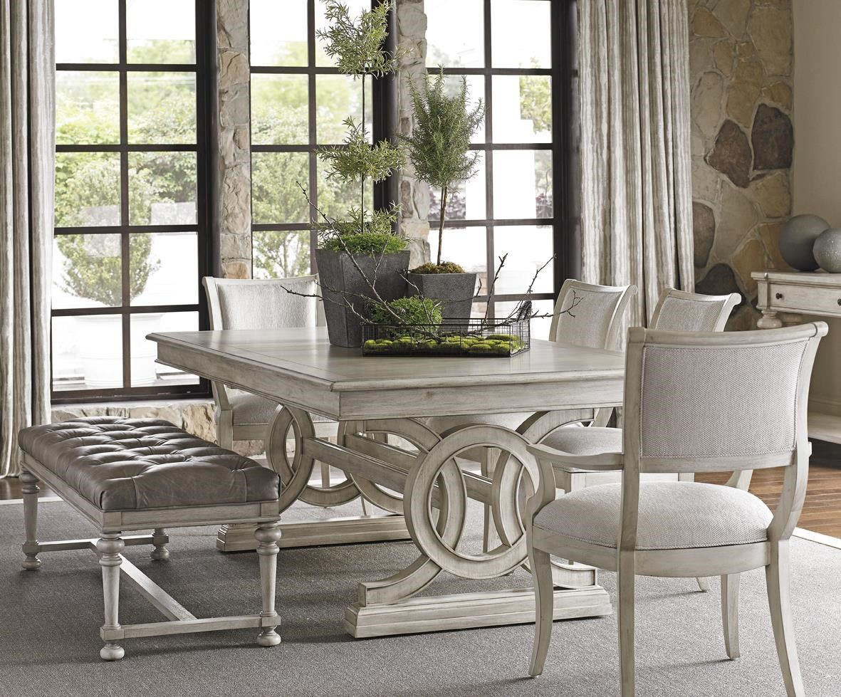 lexington oyster bay six piece dining set with montauk table and