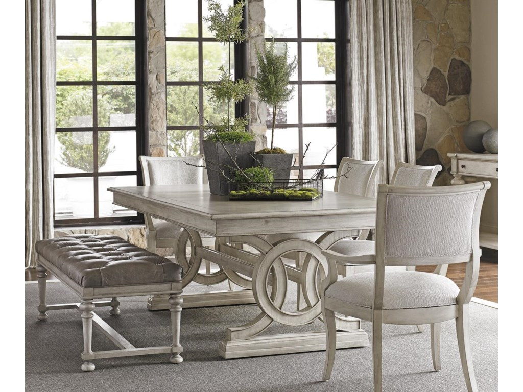 Lexington Oyster Bay6 Pc Dining Set with Bench