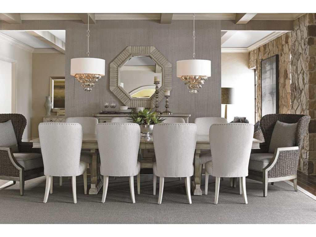 Collection Video. Lexington Oyster Bay Montauk Rectangular Trestle Dining Table with