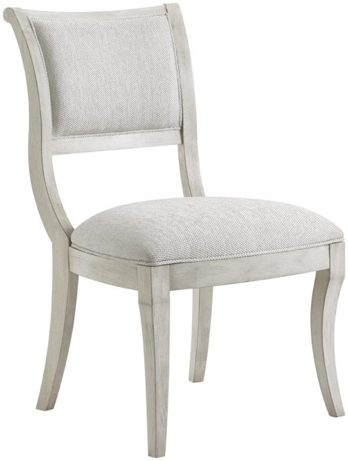 Lexington Oyster Bay Eastport Side Chair in Sea Pearl Fabric