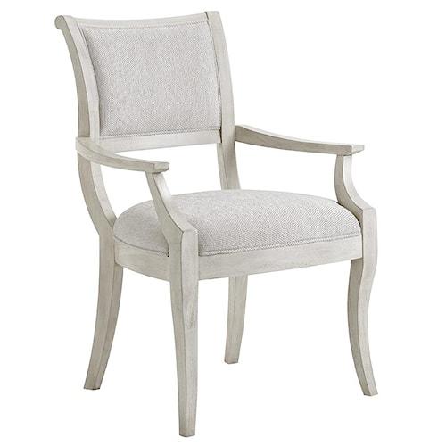 Lexington Oyster Bay Eastport Arm Chair In Sea Pearl Fabric