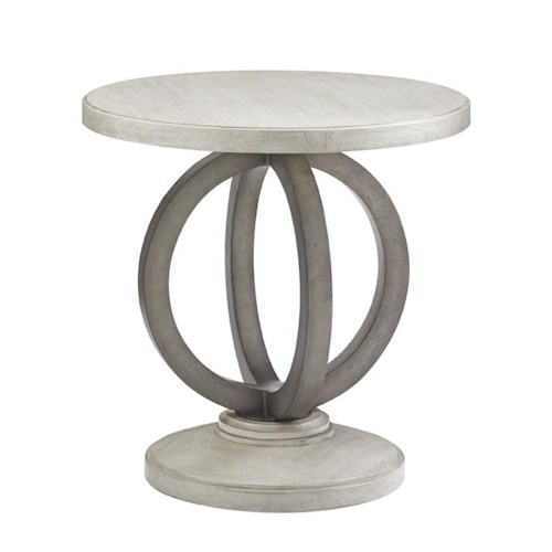 Lexington Oyster Bay Hewlett Side Table with Contemporary Metal Ring Base