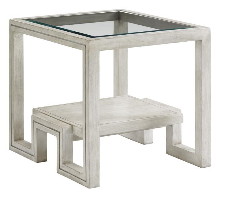 Harper End Table with Glass Top