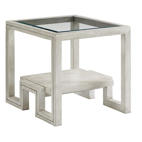 Lexington Oyster Bay Harper End Table with Glass Top
