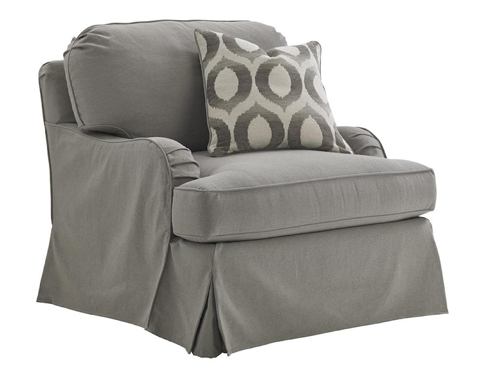 Lexington Oyster BayStowe Slipcover Swivel Chair