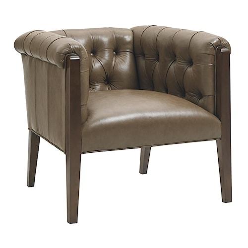 Lexington Oyster Bay Brookville Modern Button Tufted Chair with High Legs