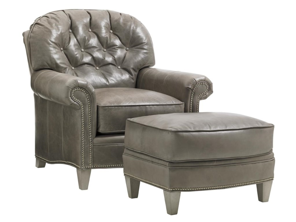 Lexington Oyster BayBayville Chair & Ottoman Set