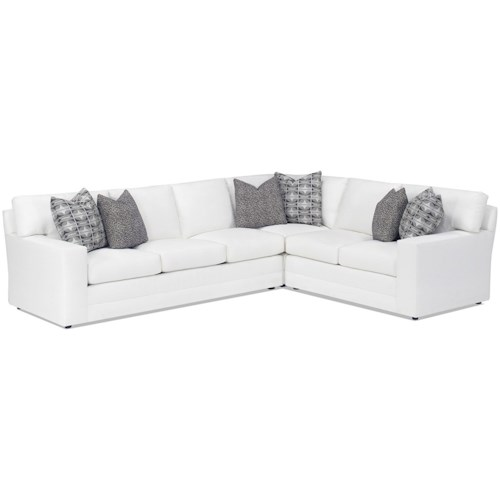 Lexington Personal Design Series Customizable Bedford Three Piece Sectional Sofa With Raf Loveseat 9 Inch