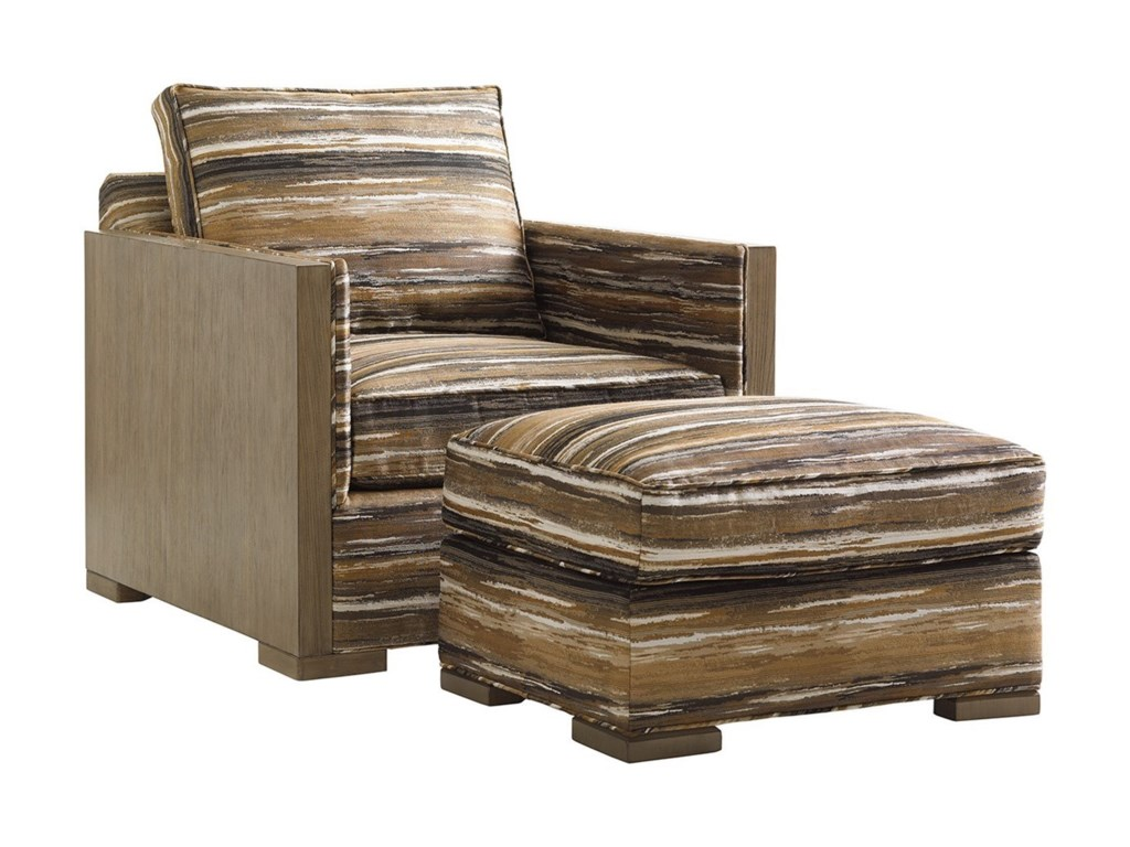 Lexington Shadow PlayDelshire Chair and Ottoman Set