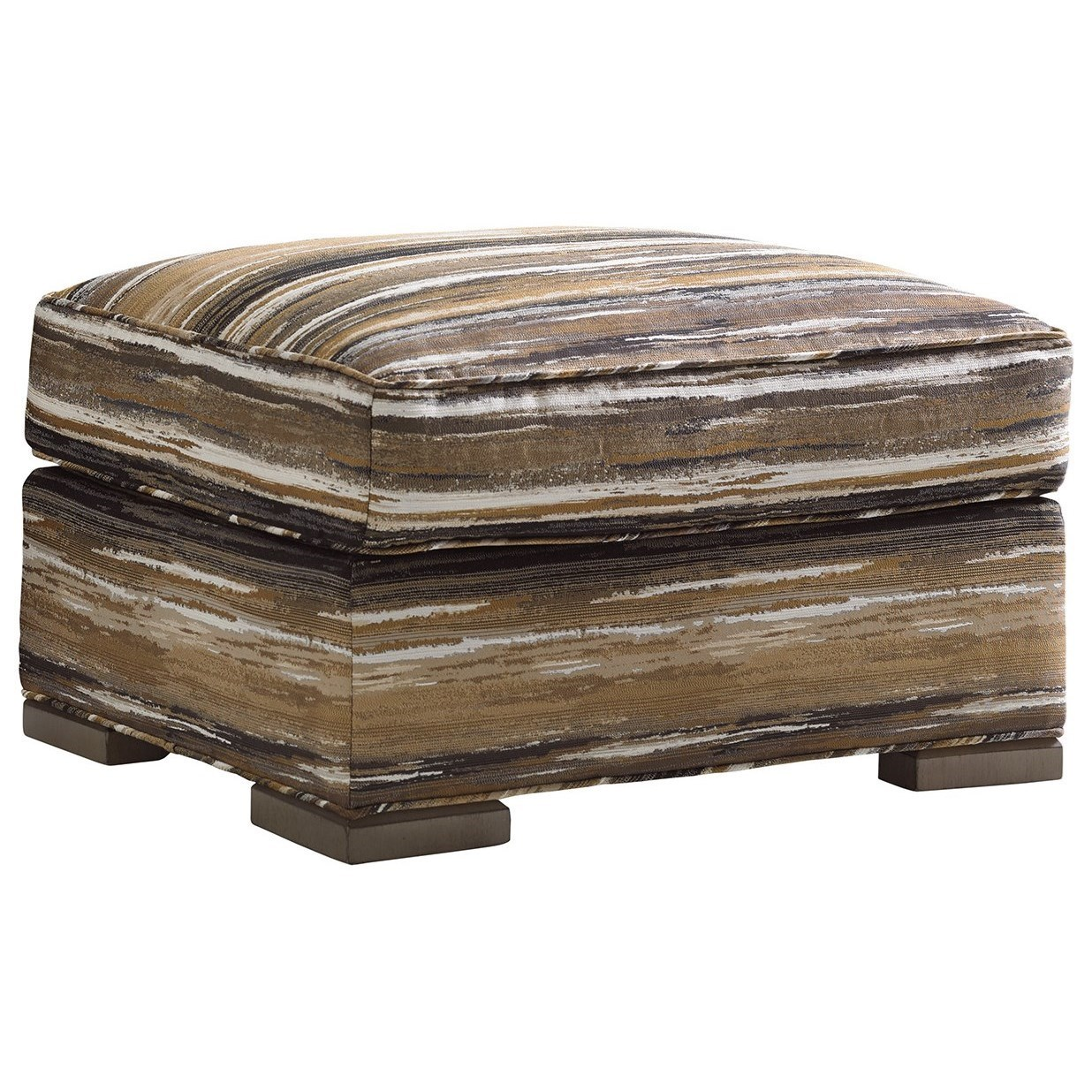 Delshire Ottoman with Wood Block Feet