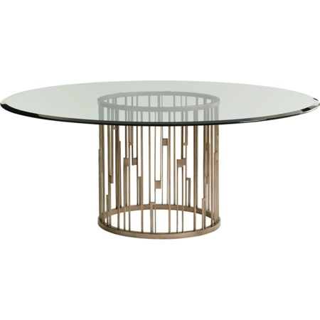 Rendezvous Dining Table with Glass Top