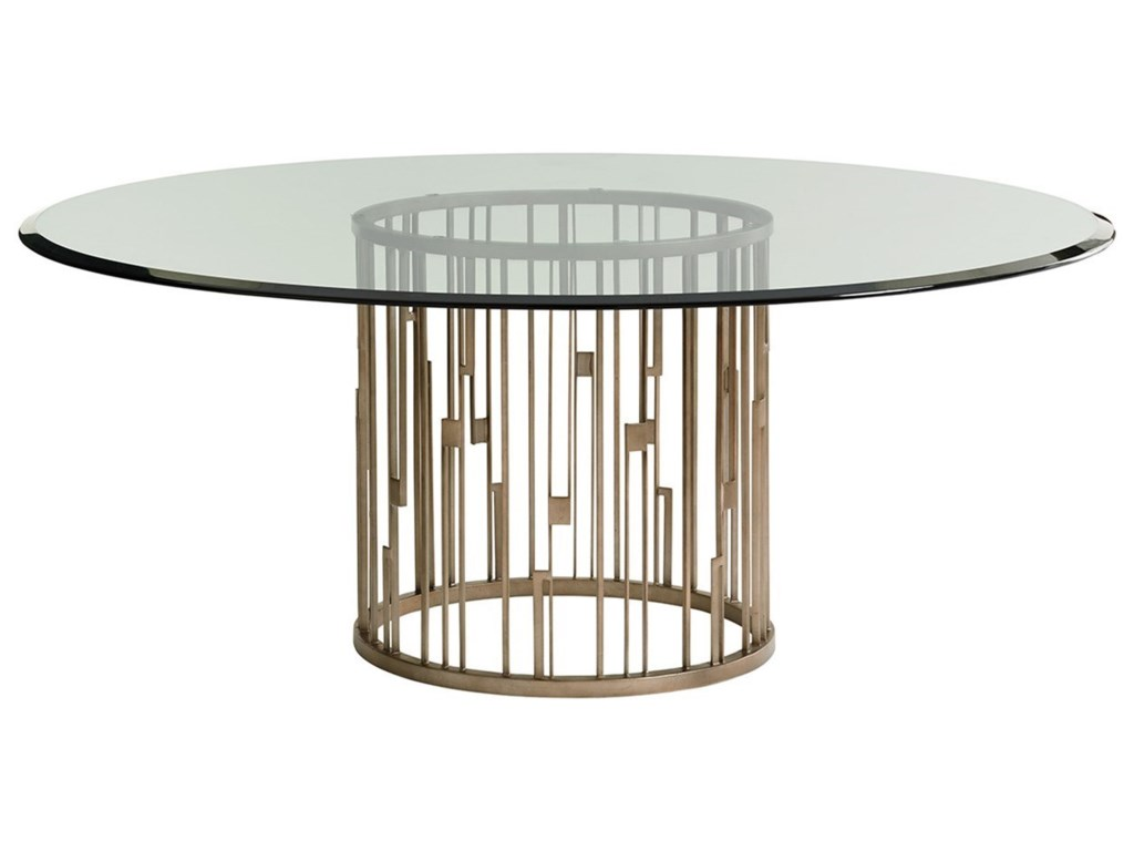 Lexington Shadow PlayRendezvous Dining Table with Glass Top