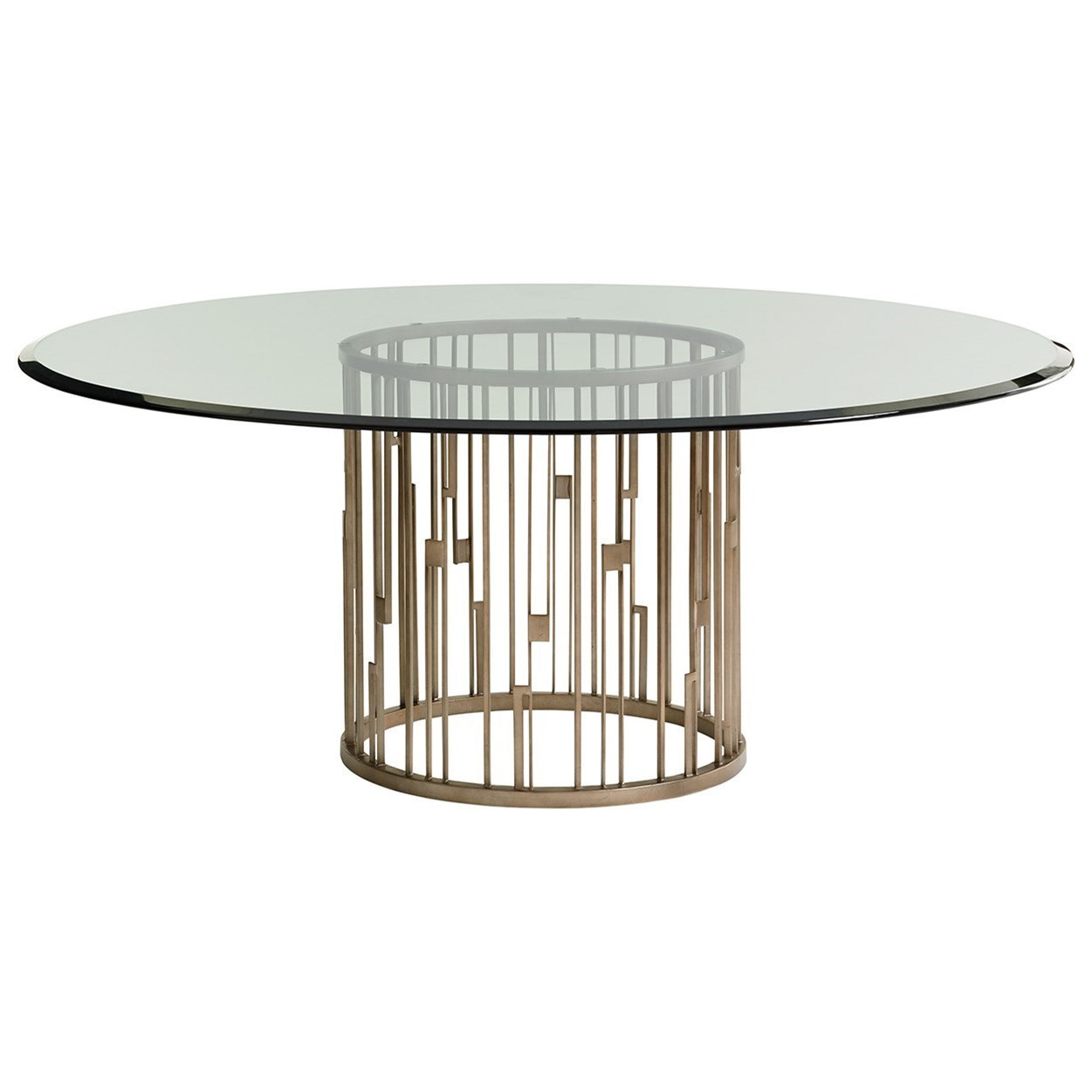 Lexington Shadow PlayRendezvous Dining Table With Glass Top ...