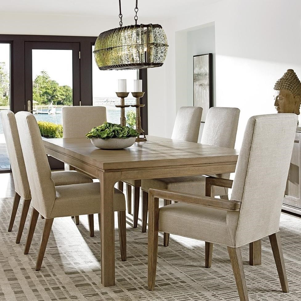 Lexington Shadow Play Seven Piece Dining Set With Concorde Table And Dove  Gray Metro Arm Chairs | Baeru0027s Furniture | Dining 7 (or More) Piece Sets