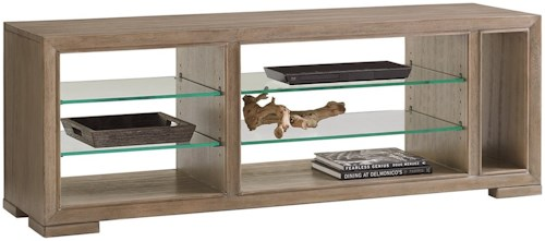 Lexington Shadow Play Spotlight Media Console with Adjustable Glass Shelves