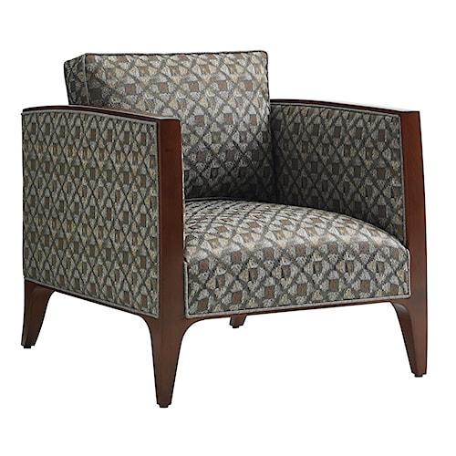 Lexington TAKE FIVE Cobble Hill Arm Chair with Wood Trim