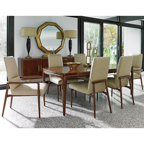 Lexington TAKE FIVE Seven Piece Dining Set with Viceroy Table and Chelsea Chairs
