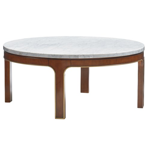 Lexington TAKE FIVE Interlude Cocktail Table with Carrera Marble Veneer Top