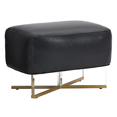 Lexington TAKE FIVE Bleeker Customizable Bench Ottoman with Mod Acrylic and Brass Legs