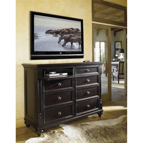 Tommy Bahama Home Kingstown Stony Point Dresser with Pilasters
