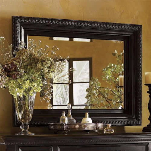 Tommy Bahama Home Kingstown Fairpoint Mirror with Cast Resin Accents