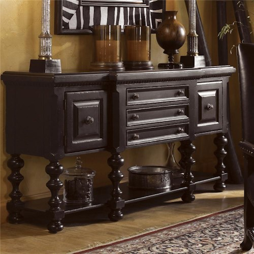 Tommy Bahama Home Kingstown Regiment Huntboard with Lower Shelf