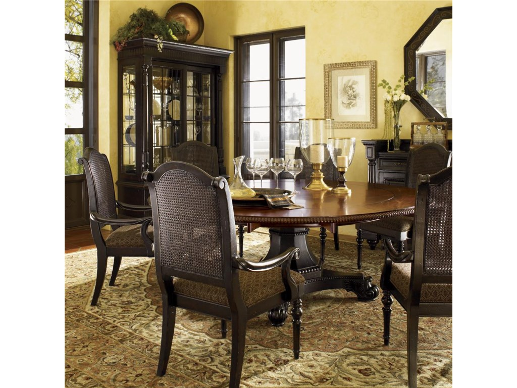 Shown with Bonaire Round Dining Table and Point Reves Display Cabinet
