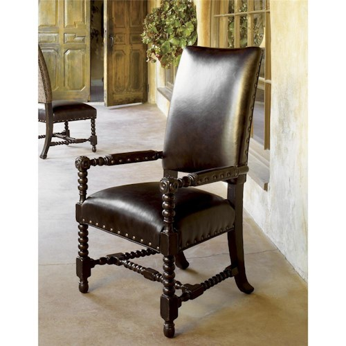 Tommy Bahama Home Kingstown Edwards Arm Chair with Padded Arms