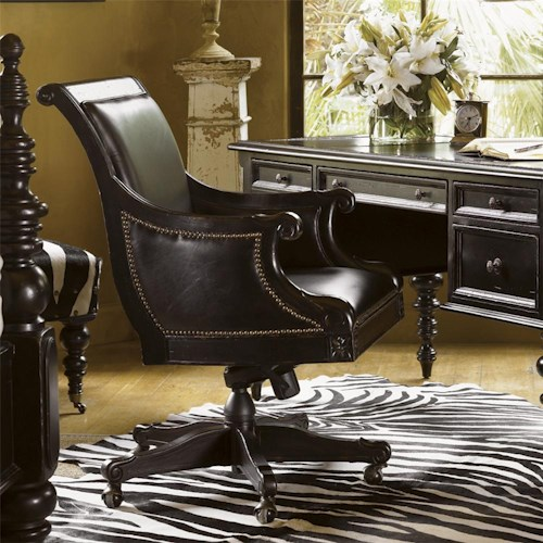 Tommy Bahama Home Kingstown Admiralty Desk Chair With Casters