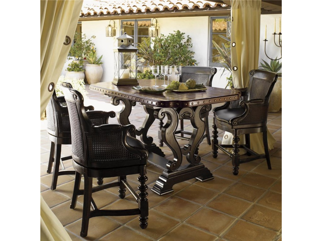 Kitchen Table King Street Tommy bahama home kingstown decorative sienna bistro table set tommy bahama home kingstownsienna bistro table set workwithnaturefo