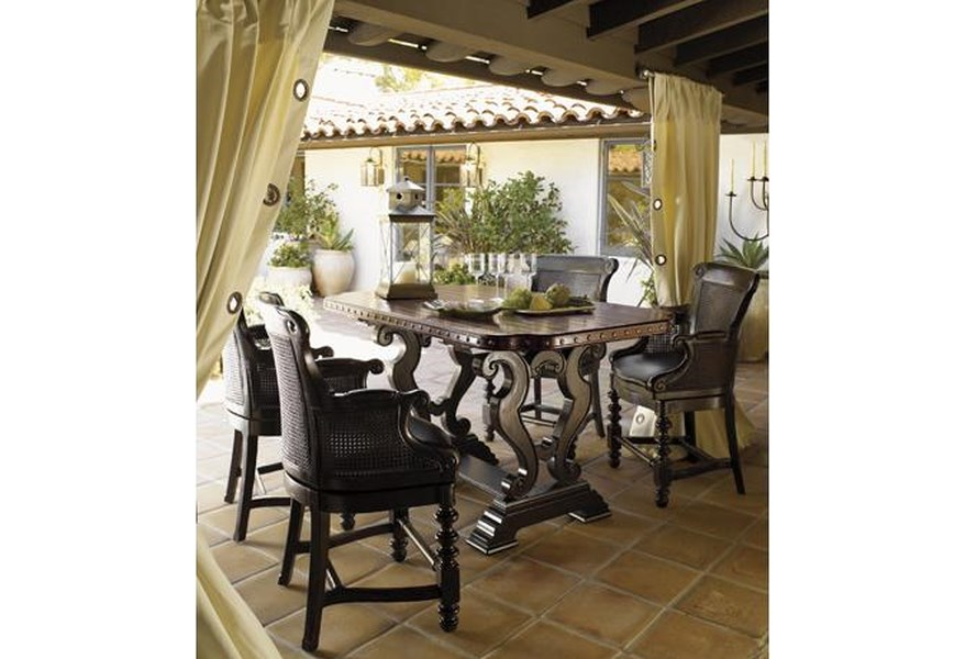 Tommy Bahama Home Kingstown Sienna Bistro Table with Hand ...