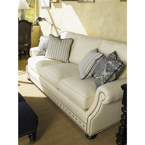 Tommy Bahama Home Kingstown Osbourne Sofa with Nail Head Trim