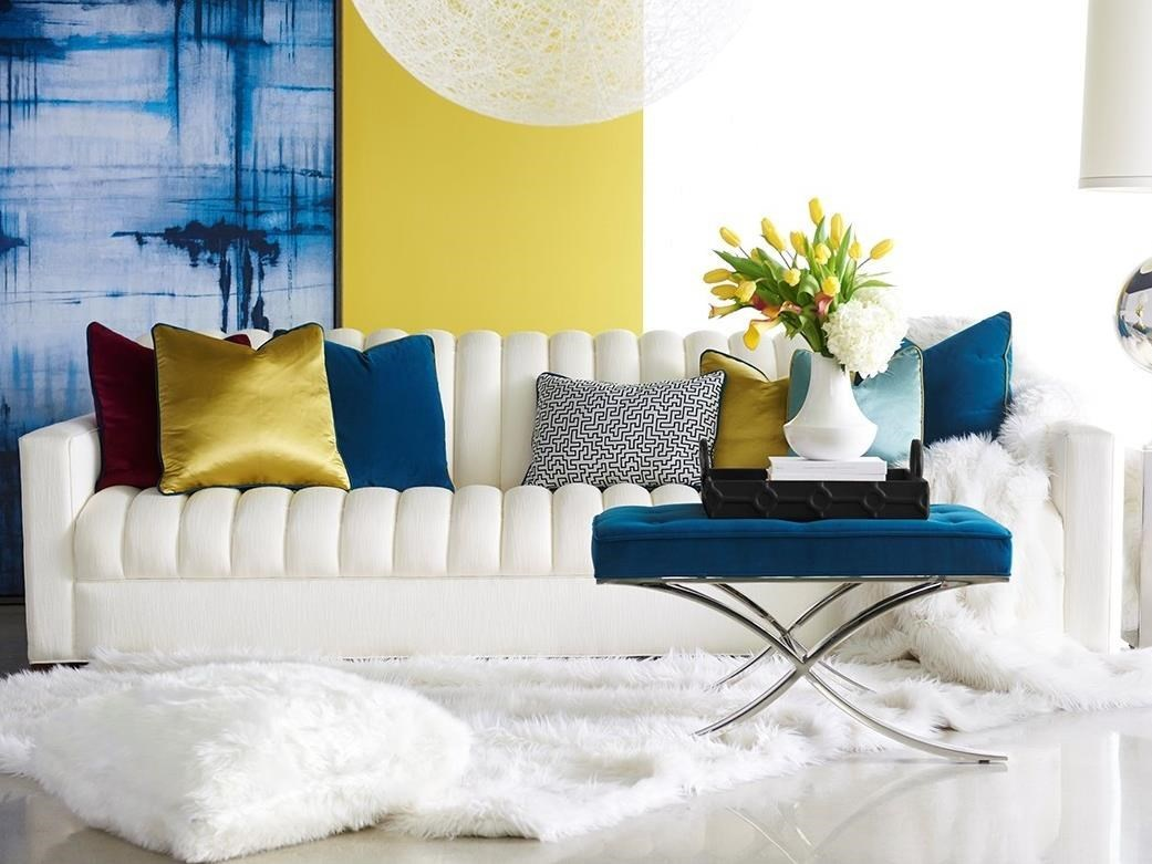 Contemporary Hancock Sofa with Channeled Cushions