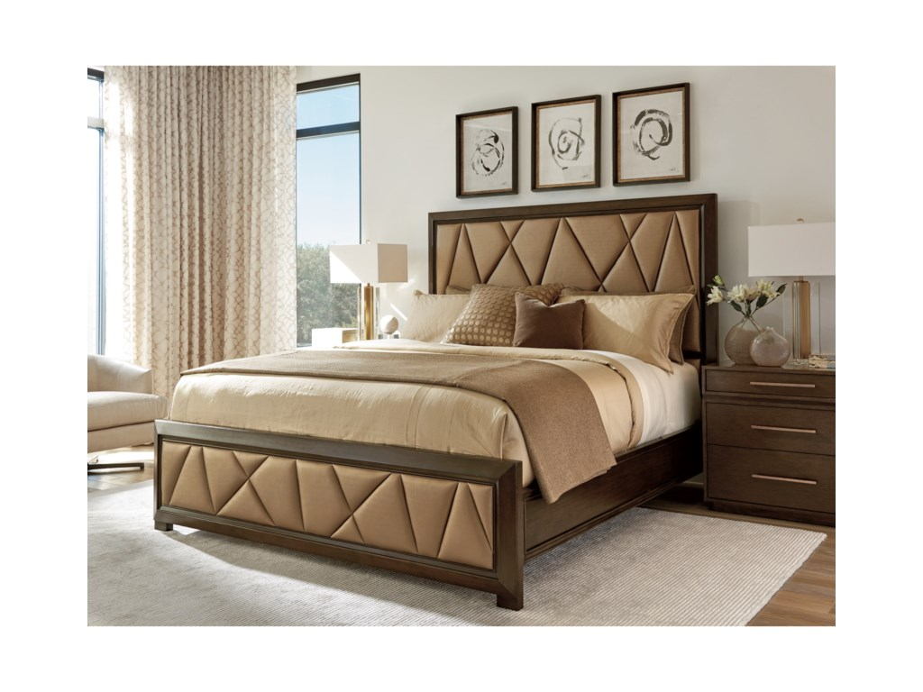 Lexington ZavalaSpectrum Upholstered Panel Bed 6/0 CKing