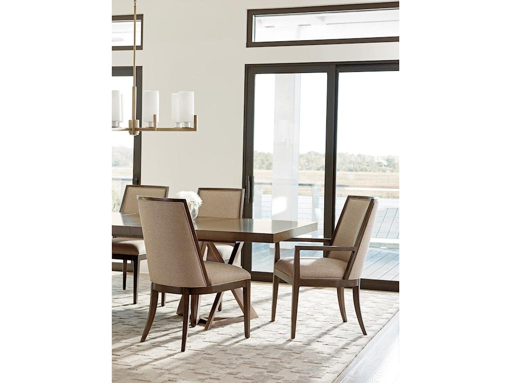 Lexington ZavalaEllipsis Upholstered Arm Chair
