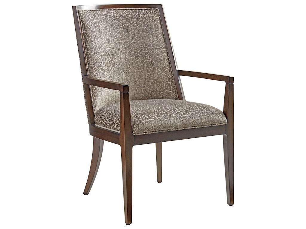 Lexington ZavalaEllipsis Upholstered Arm Chair (Custom)