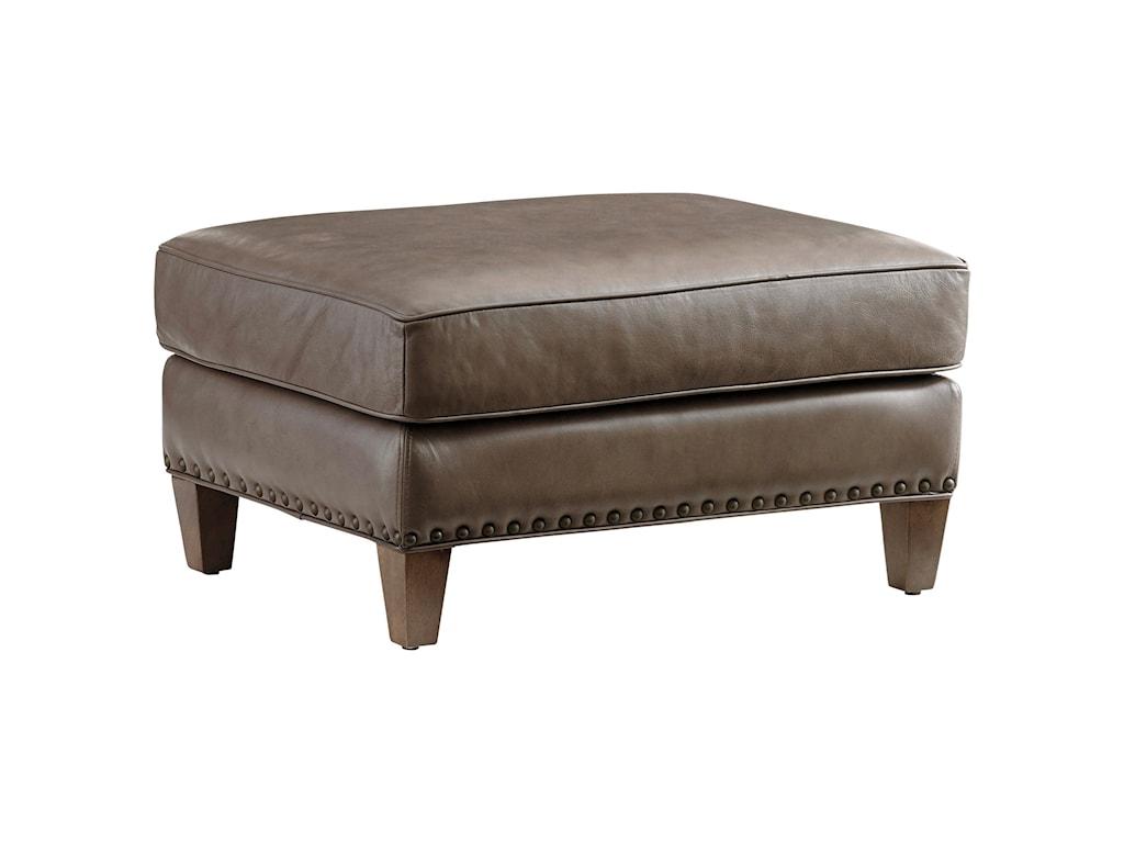 Lexington ZavalaHughes Leather Ottoman