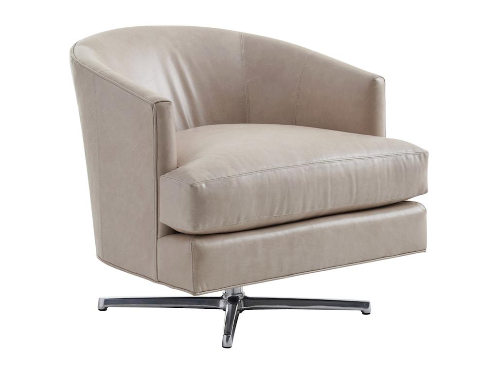 Lexington ZavalaGraves Swivel Chair (Polished Chrome)