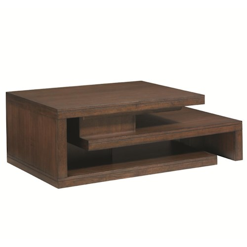 Lexington 11 South Cascade Cocktail Table with Pull-Out Shelf