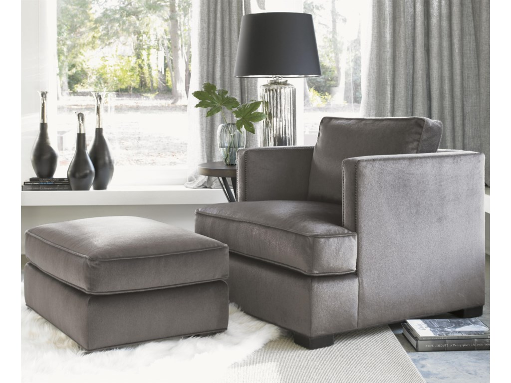 Shown with the Fillmore Ottoman and Profile Lamp Table